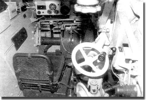 Детали интерьера истребителя танков