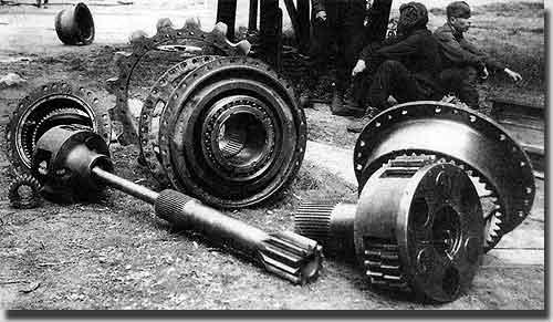 Все узлы ходовой части танка