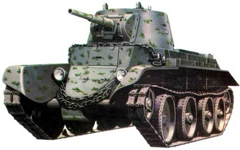 Ходовая часть танка БТ-7 по