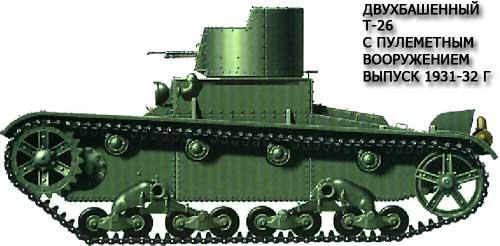 Танк Т-26 с двумя башнями