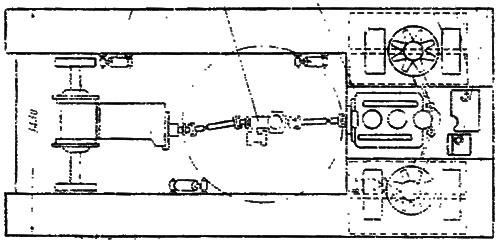 Схема расположения механизмов: