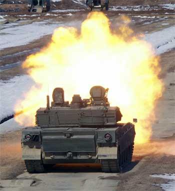 Огонь из танка