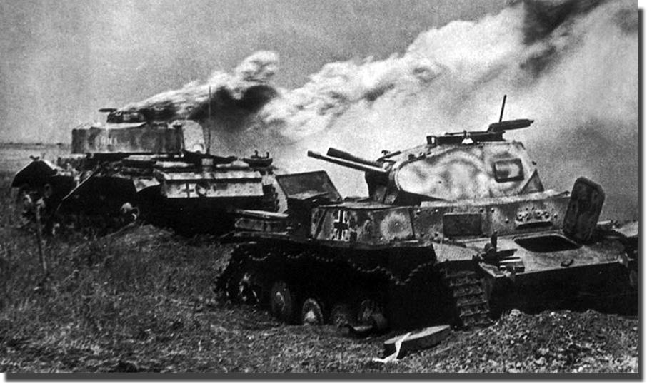 Подбитые танки вермахта pz ii и pz iii 1943