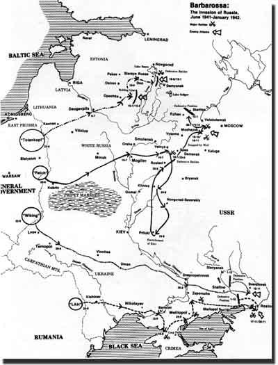 Барбаросса июнь 1941 январь 1942
