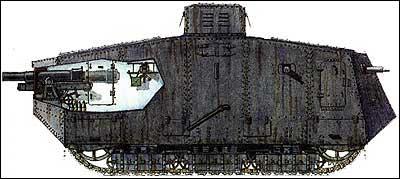 Германский тяжелый танк A7V