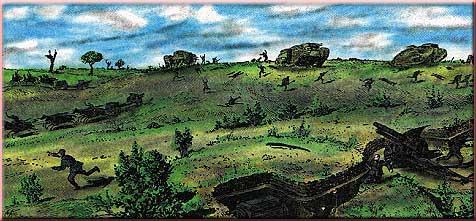 Бегство немецкой пехоты