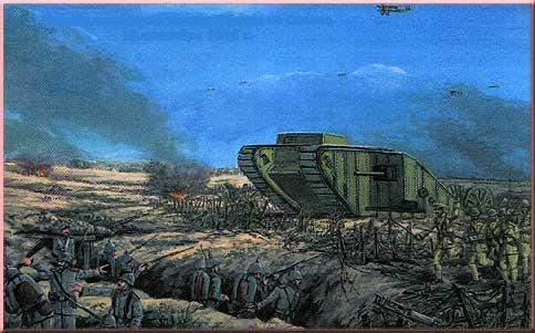 первое появление танков в битве