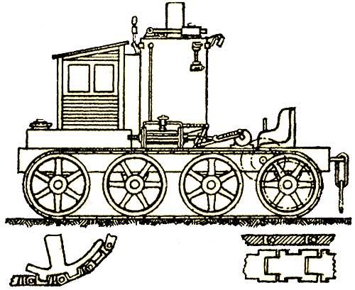Паровой гусеничный трактор Ф. Блинова