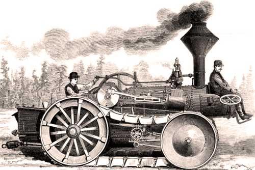 Рисунок проекта гусеничного парового локомотива