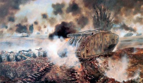 Первый танковый бой