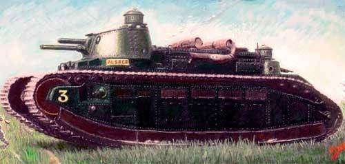 Сверхтяжелый танк char 2c танк 2c fcm 2c