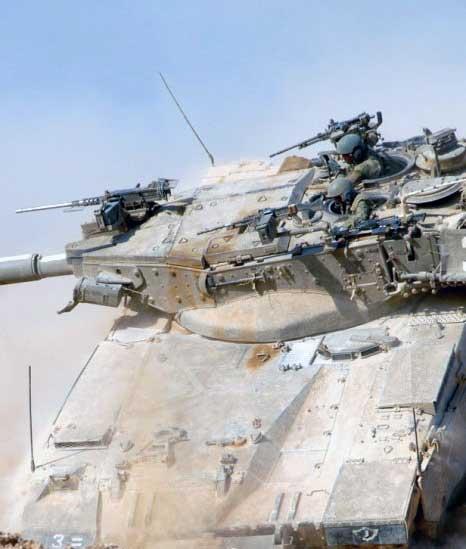 Танк Меркава в пустыне