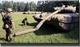 Резиновая техника и танки, сдуваемые ветром